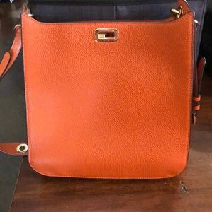 Burnt Orange crossbody Michael Kors purse